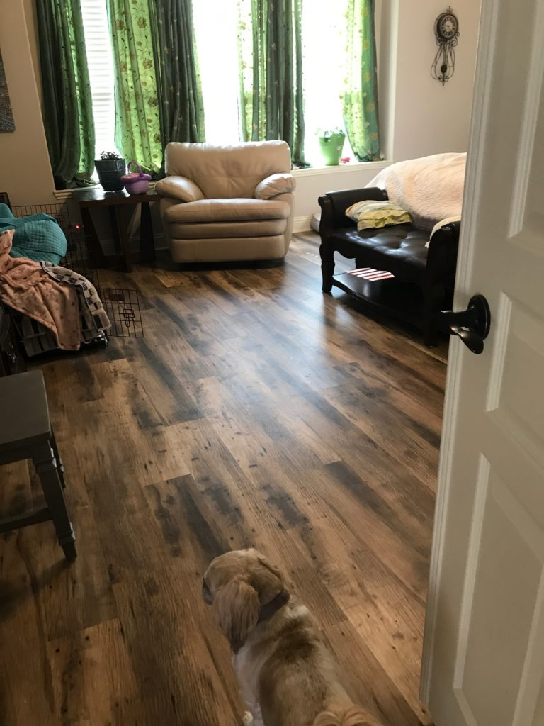 Wood Like Vinyl Flooring Work Sample Elite Floors