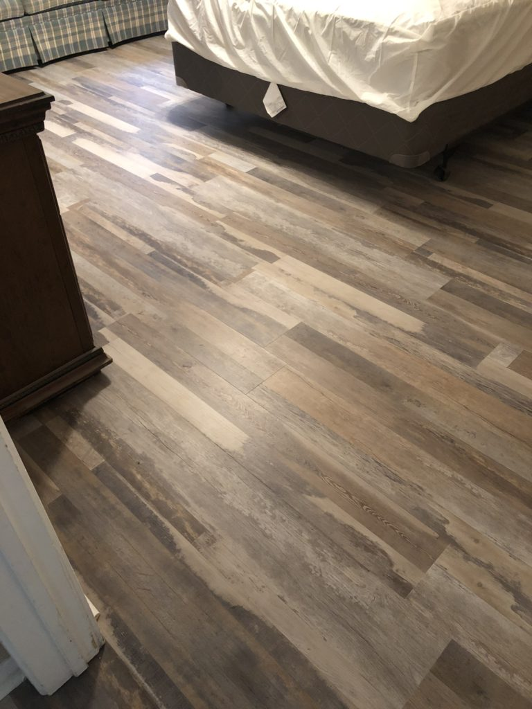 Coretec Plus Cabin Oak Waterproof Vinyl Flooring Project